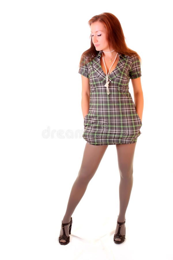 Woman standing stock photography