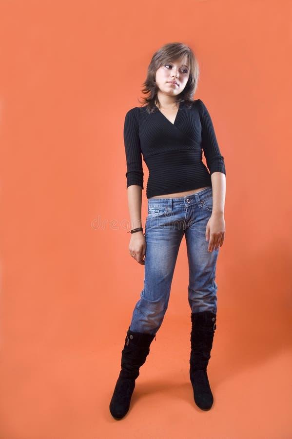 Woman standing stock photo