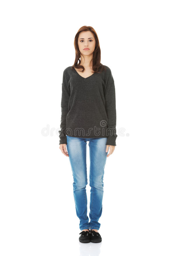 Free Woman Standing From The Front Royalty Free Stock Images - 45807519