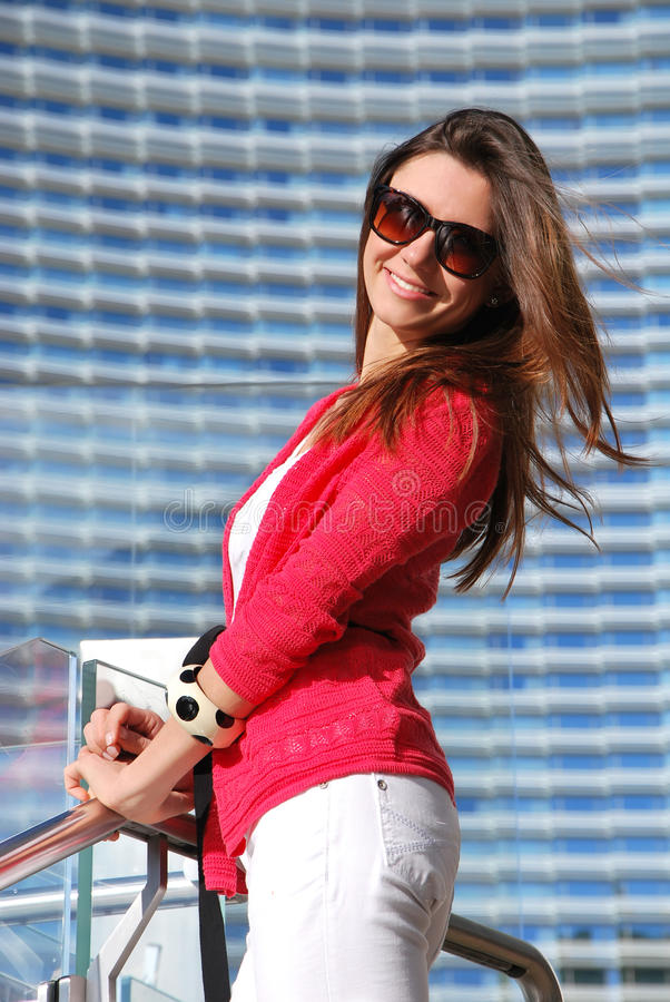 Download Woman Standing In Front Of The Luxury Hotel Stock Image - Image: 25000901