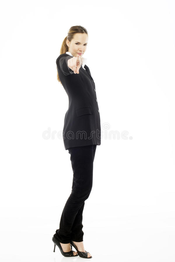 Download Woman Standing With Her Hand Indicating Stock Photo - Image: 16679560