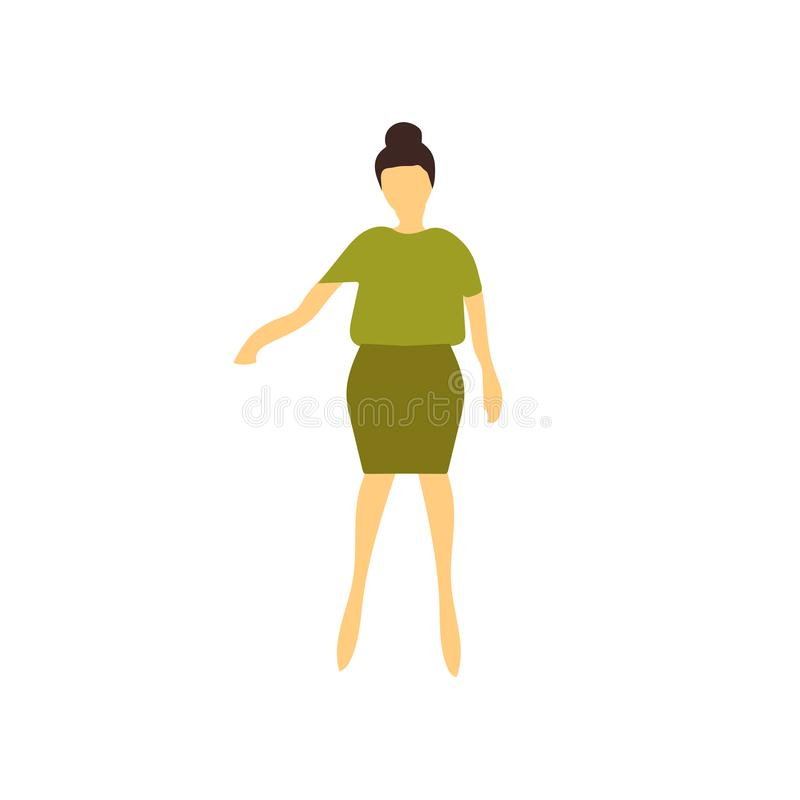 Woman standing vector vector sign and symbol isolated on white background, Woman standing vector logo concept vector illustration