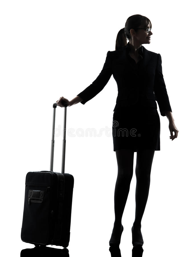Download Woman Standing On Weight Scale  Happy Silhouette Stock Photo - Image: 30951316