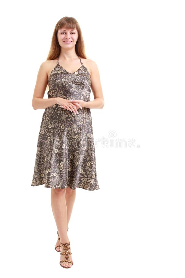 Download Woman Standing On A White Background Stock Image - Image: 10869559