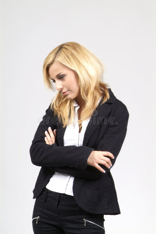 Woman Stands Stock Image