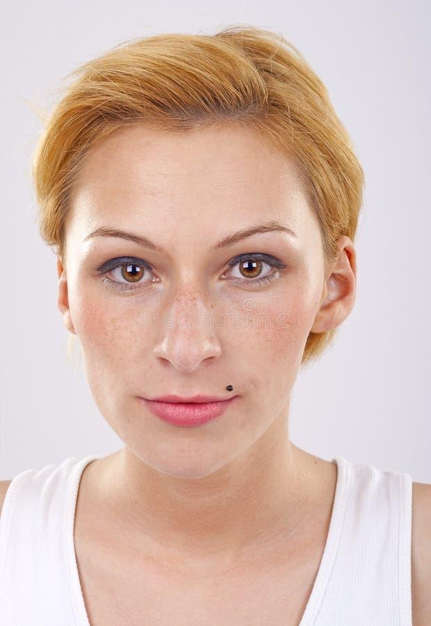 Woman Staring At Camera Stock Images