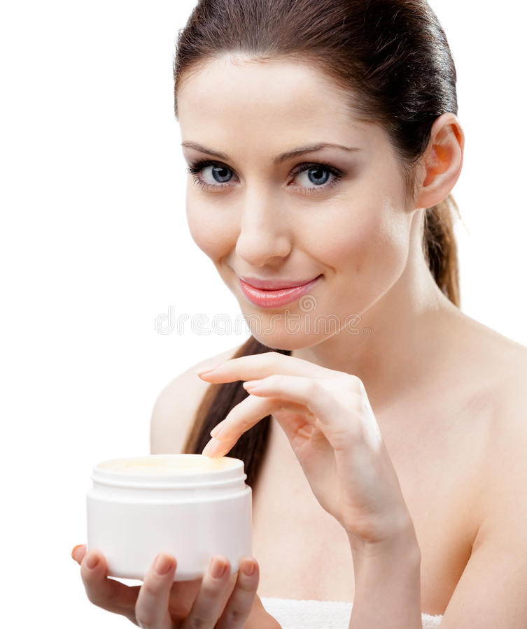 Woman Starting To Apply Mask Stock Photography