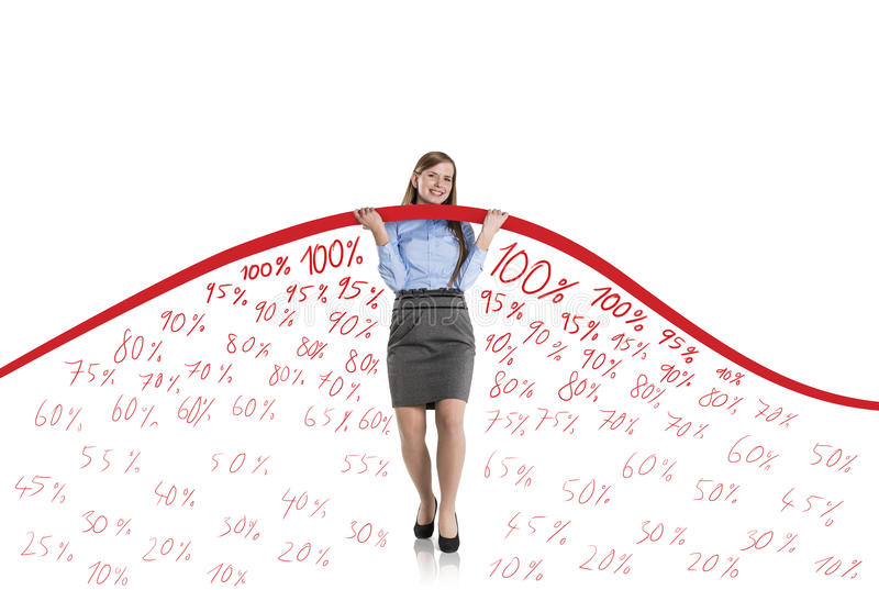 Download Woman With Statistics Curve Stock Illustration - Image: 28295785