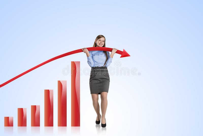 Download Woman With Statistics Curve Stock Illustration - Image: 28295887