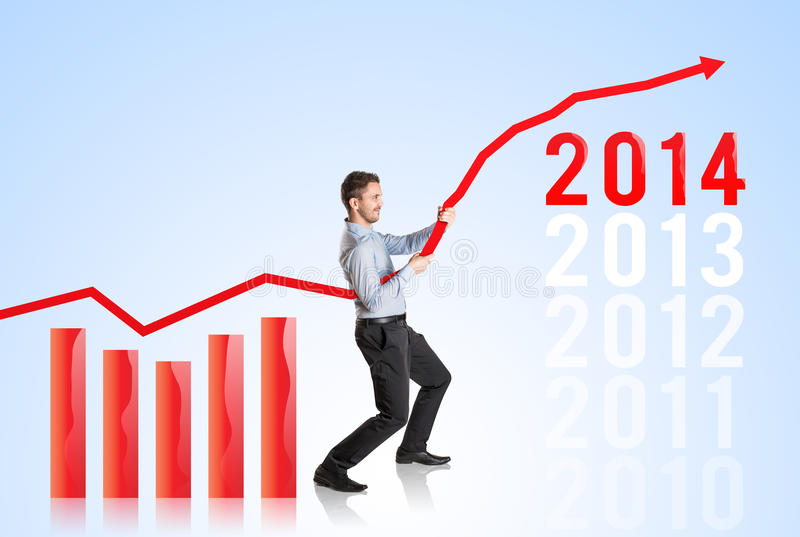 Download Woman With Statistics Curve Stock Photo - Image: 33374472