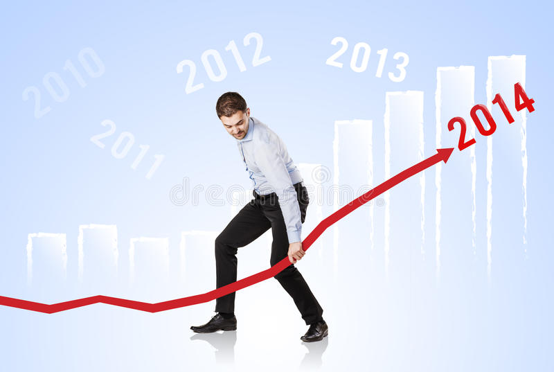 Download Woman With Statistics Curve Stock Photo - Image: 34051874