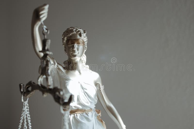 Woman Statue Symbol Of Justice Themis Stock Image - Image of