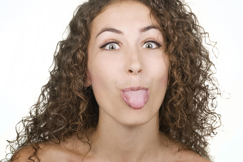 Download Woman Sticking Her Tongue Out Stock Photo - Image: 16594080