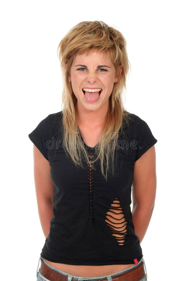 Download Woman Sticking Out Her Tongue Royalty Free Stock Image - Image: 944336