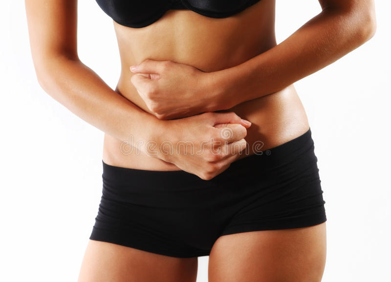 Download Woman stomach ache stock photo. Image of tension, figure - 11024128