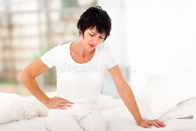 Woman stomach ache royalty free stock photography