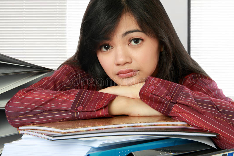 Download Woman stress stock photo. Image of asian, female, background - 23242820