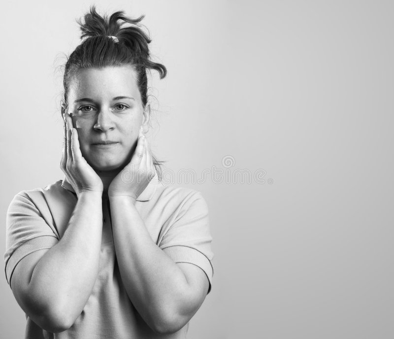 Woman stress concept royalty free stock images