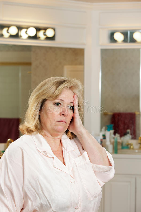 Download Woman stressed bathroom stock photo. Image of pain, distress - 21118850