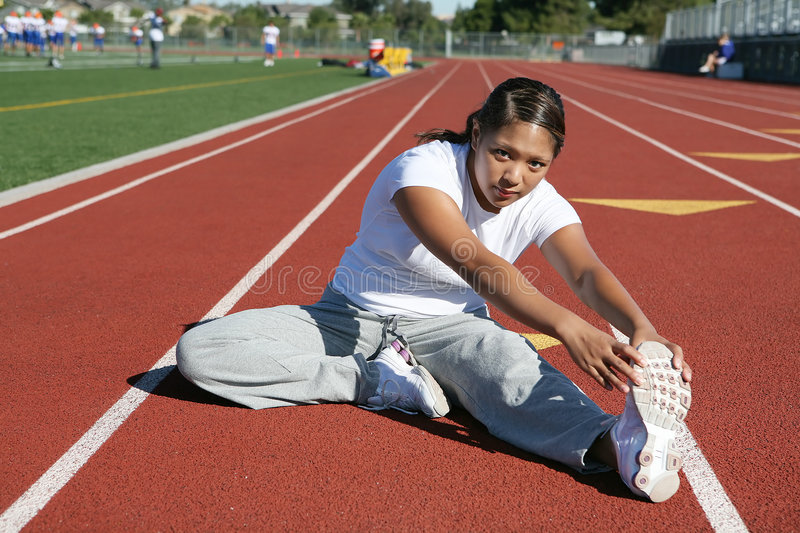 Download Woman Stretching stock image. Image of tired, stadium - 1423663