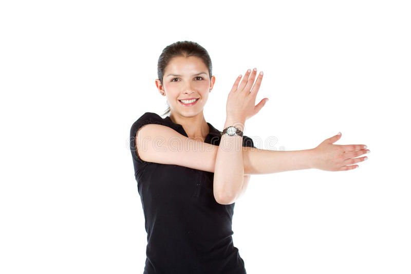 Download Woman stretching stock photo. Image of class, attractive - 14400018