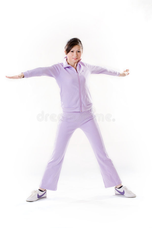 Download Woman Stretching Arms And Legs Stock Image - Image: 4515513