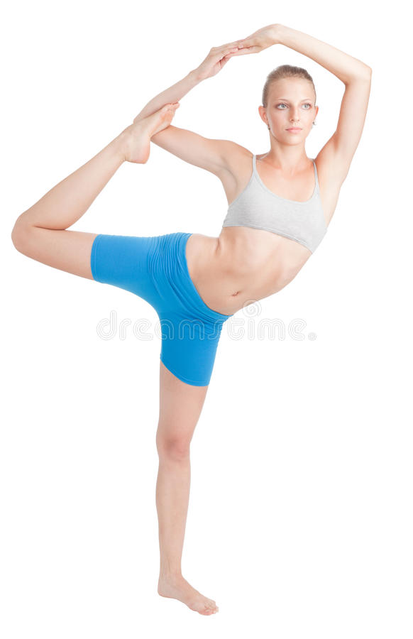 Download Woman Stretching Doing Yoga Stock Photos - Image: 16263393