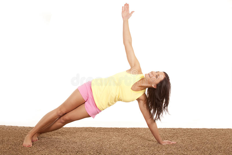 Woman Stretching On One Arm Stock Image