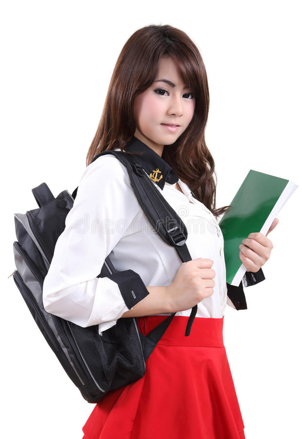 Download Woman student stock image. Image of white, background - 63140845