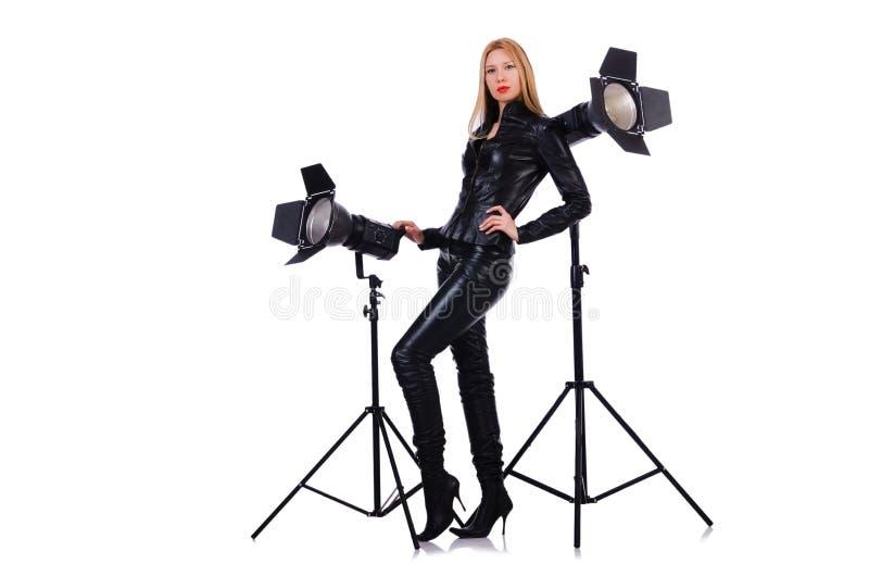 Woman In Studio Stock Photos