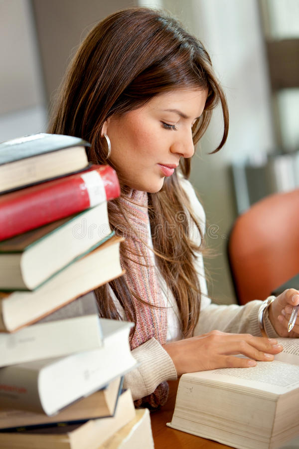 Download Woman studying stock photo. Image of library, studying - 11343548
