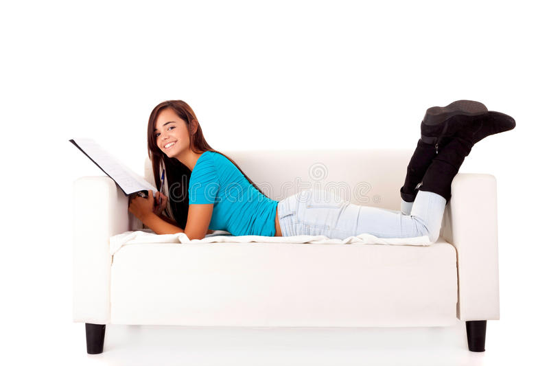 Download Woman studying stock image. Image of caucasian, beauty - 27295587