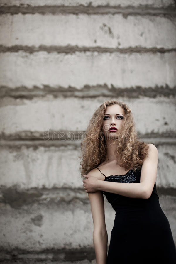 Woman with stylish make-up royalty free stock photos