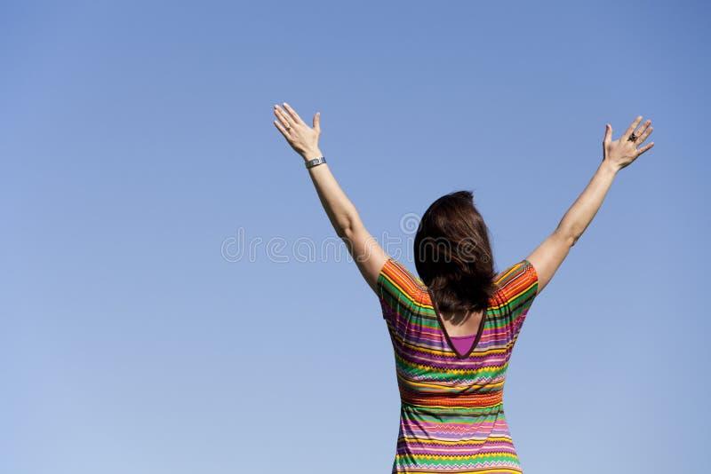 Woman success royalty free stock photo
