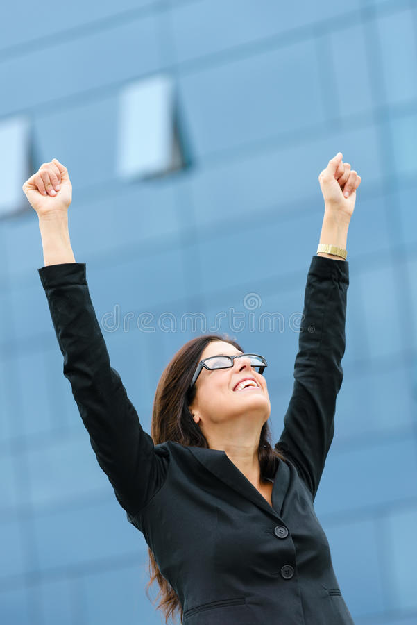 Woman success in business and job royalty free stock photo