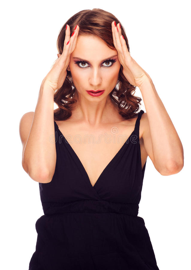 Download Woman Suffering From Headache Stock Image - Image: 28135621