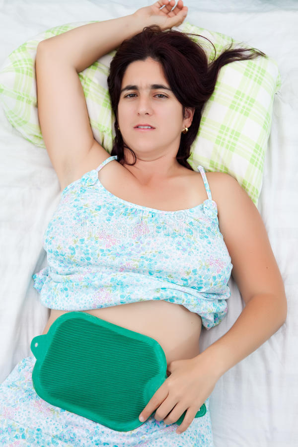 Download Woman Suffering From Uterine Or Abdominal Pain Stock Photo - Image of ovaries, ache: 24770606