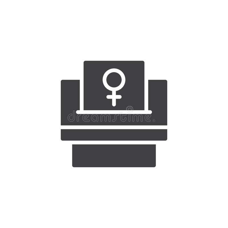 Woman suffrage vector icon. Filled flat sign for mobile concept and web design. Feminism simple solid icon. Symbol, logo illustration. Pixel perfect vector vector illustration