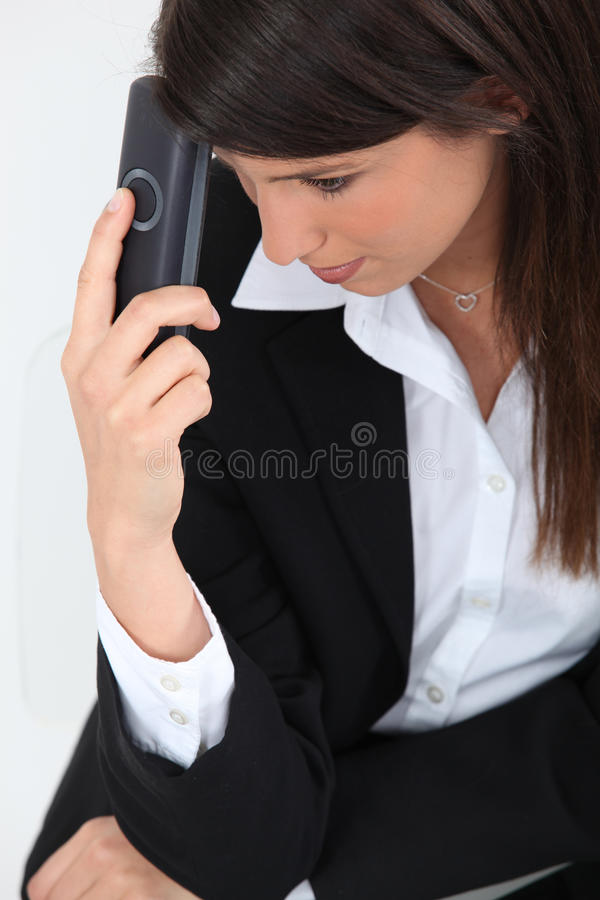 Woman In A Suit Stock Photography
