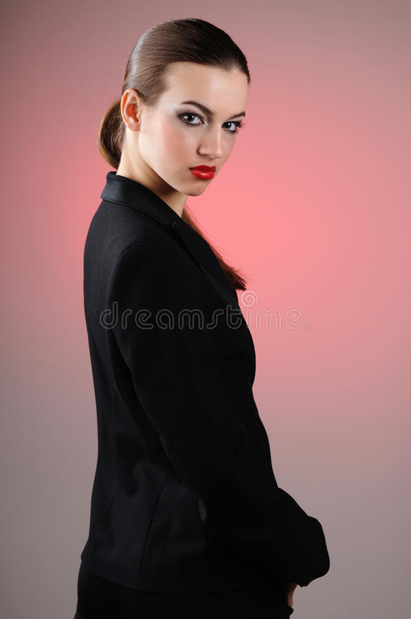 A Woman In A Suit Stock Photography