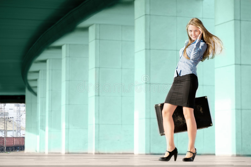 Download Woman with suitcase stock photo. Image of move, luggage - 6327698