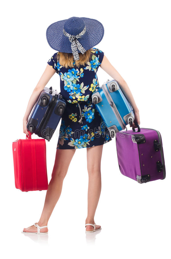 Download Woman with suitcases stock photo. Image of luggage, confident - 34468886