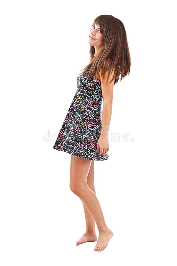Woman in summer dress stock photography