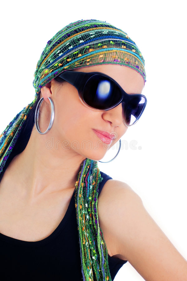 Download Woman with sunglasses stock photo. Image of black, light - 5769230