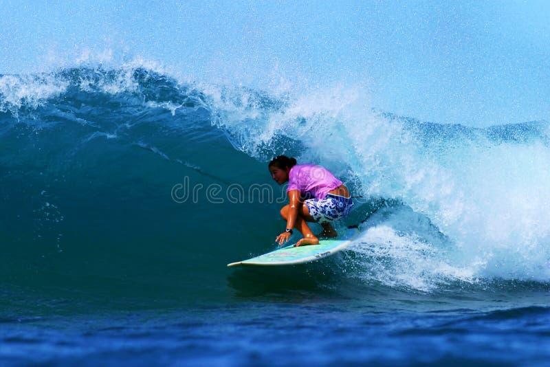 Woman Surfing Champion Joy Monahan Editorial Photo