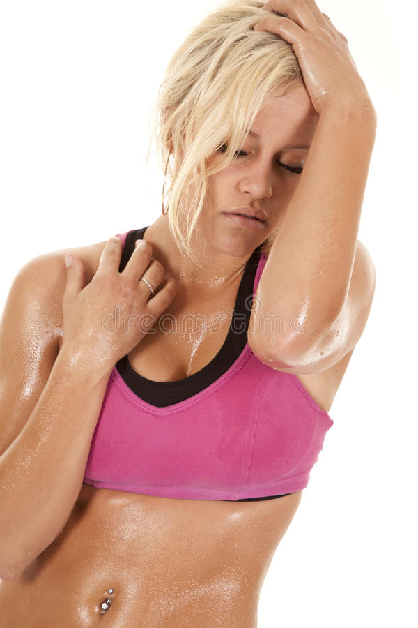Download Woman Sweat Tired Royalty Free Stock Photo - Image: 22524915