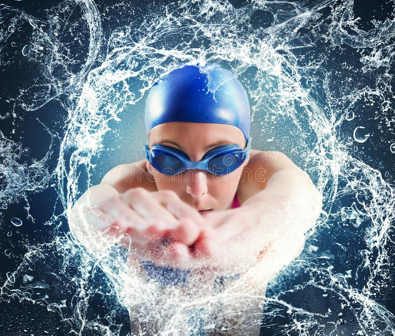Woman swimmer stock photography