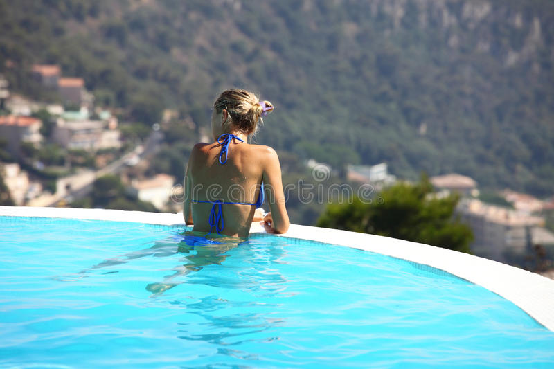 Download Woman in swimming pool stock photo. Image of athlete - 18789090