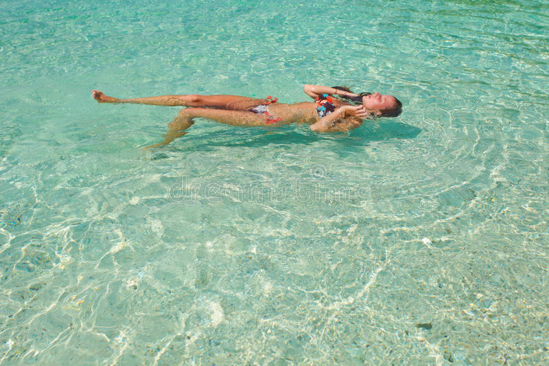 Download Woman In Swimsuit In The Water Stock Image - Image: 26201041