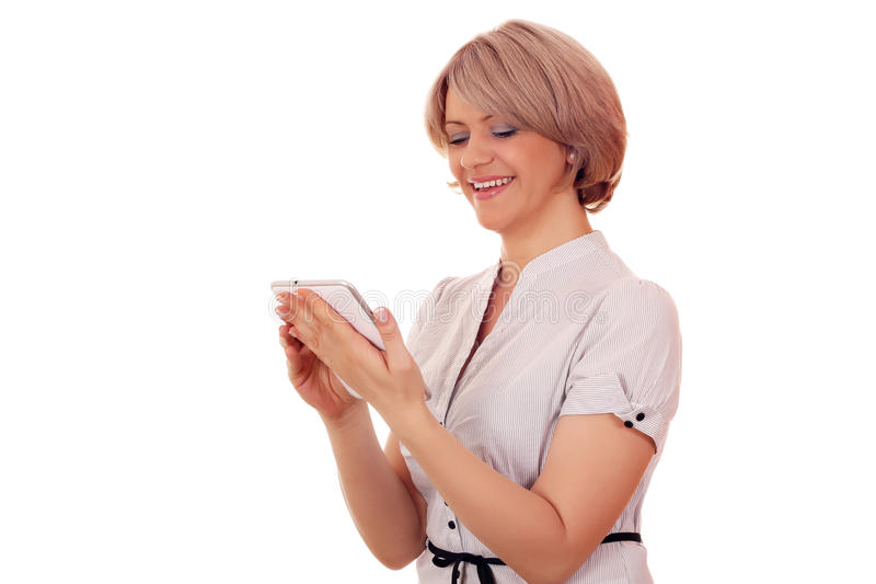 Download Woman with tablet pc stock image. Image of adorable, beautiful - 25871173